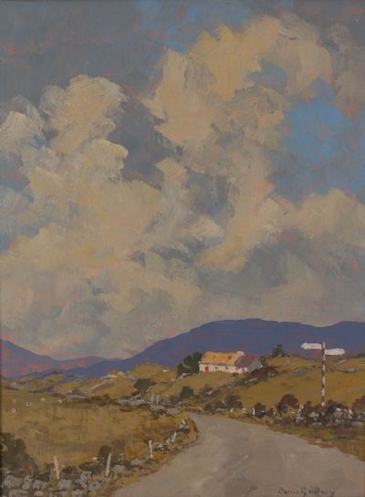 THE ROAD TO ROUNDSTONE by Denis Gallery  at Dolan's Art Auction House