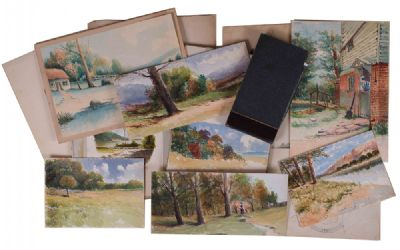 Victorian Artist's Sketchbook at Dolan's Art Auction House