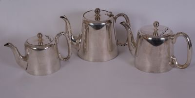 Silver Plated Tea Pots at Dolan's Art Auction House