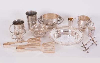 Assorted Silver & Silver Plate at Dolan's Art Auction House