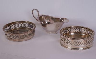 Silver Plated Sauce Boat etc at Dolan's Art Auction House