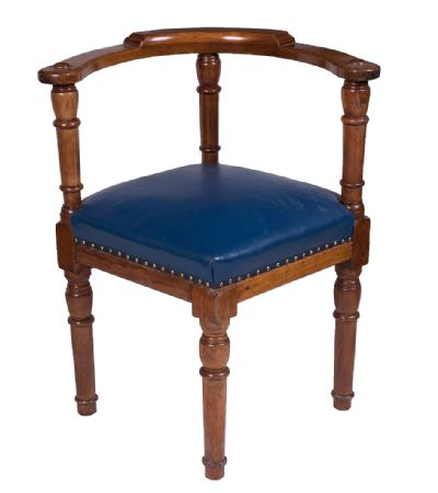 Mahogany Corner Chair at Dolan's Art Auction House